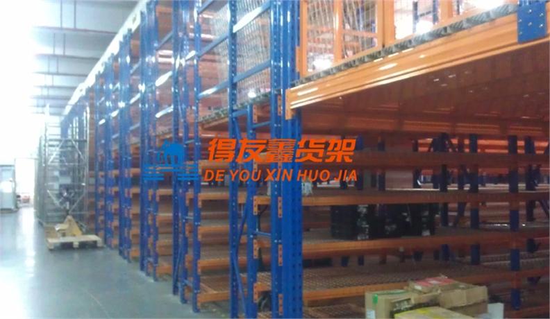 电子器件行业仓储货架解决方案-阁楼式货架