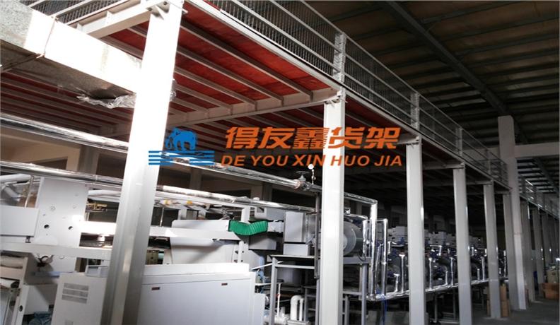 印刷包装行业仓储货架解决方案-中彩包装(钢结构平台)