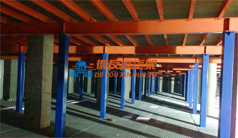 冷冻冷链行业仓储货架方案-湖南黄兴冷库(三层钢构平台)