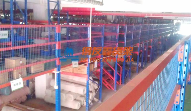 纸业仓储货架解决方案-中顺纸业(货架阁楼)
